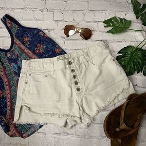 {Free People} Denim Cutoff Shorts | Size 27